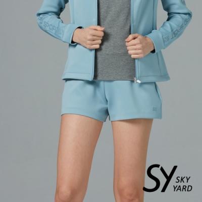 【SKY YARD 天空花園】太空棉修身運動短褲-藍色