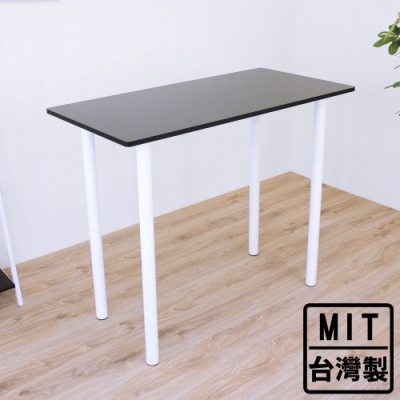 頂堅 長方形高腳桌/吧台桌/洽談桌/酒吧桌/餐桌-深60x寬120x高98/公分-三色