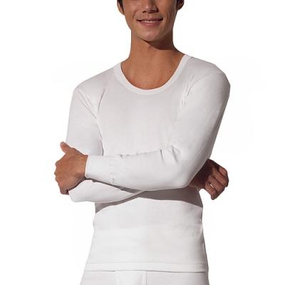 【三槍牌】精典時尚型男雙層純棉U領長袖衛生衣~2件組HE8908A