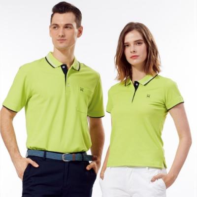 Abel Fox s Sports蘋果綠黑邊男版短袖polo衫-AFQ107-04