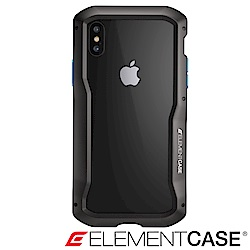 美國 ELEMENT CASE iPhone XS/X VAPOR-S高階金屬防摔殼-黑