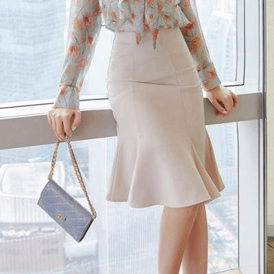 設計所在Lady-魚尾包臀中長短裙高腰A字裙(S-XL可選)