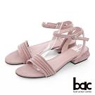 【bac】紐約不夜城 - 多層一字帶特殊鞋跟涼鞋-粉紅