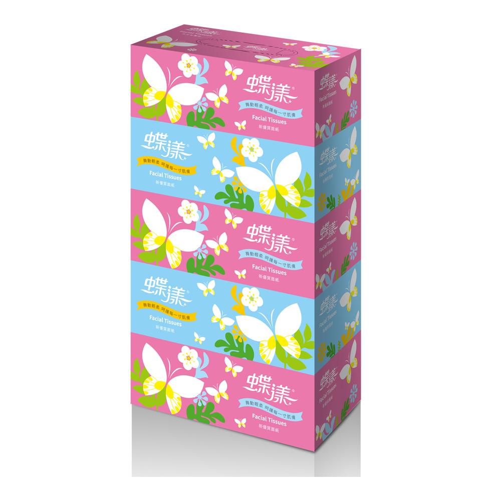 蝶漾盒裝面紙160抽x5盒/串