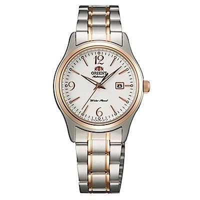 ORIENT東方錶  優雅經典手動上鍊女錶鋼帶(FNR1Q002W0)-白x30mm