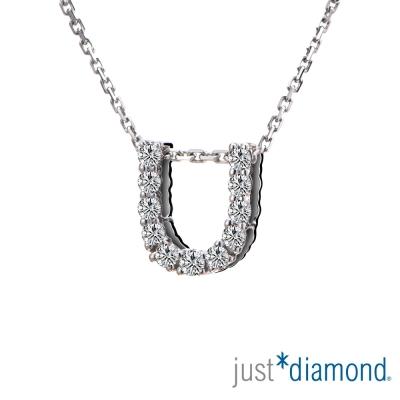Just Diamond Love Words系列18K金鑽石墜子-U