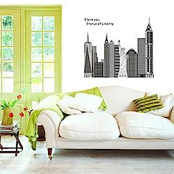 半島良品 DIY無痕壁貼-紐約印象 AY9101 60x90cm