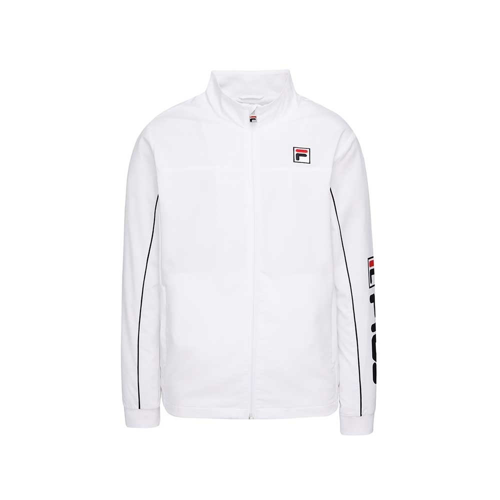FILA 男抗UV風衣外套-白色 1JKU-5004-WT