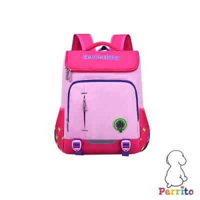 Perrito「閃電學園」太空核心護脊兒童書包 (粉色)