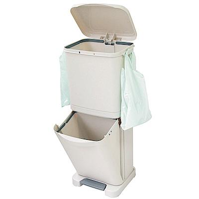 生活King直立式雙層腳踏式垃圾桶40L