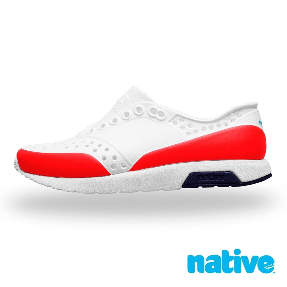 native 大童鞋 LENNOX 小雷諾鞋-貝殼白x火炬紅