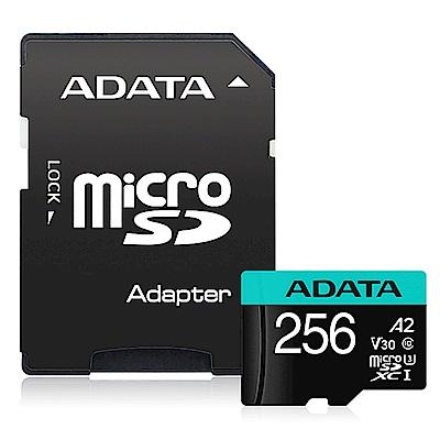 威剛 Premier Pro microSDXC UHS-I U3 A2 V30 256G