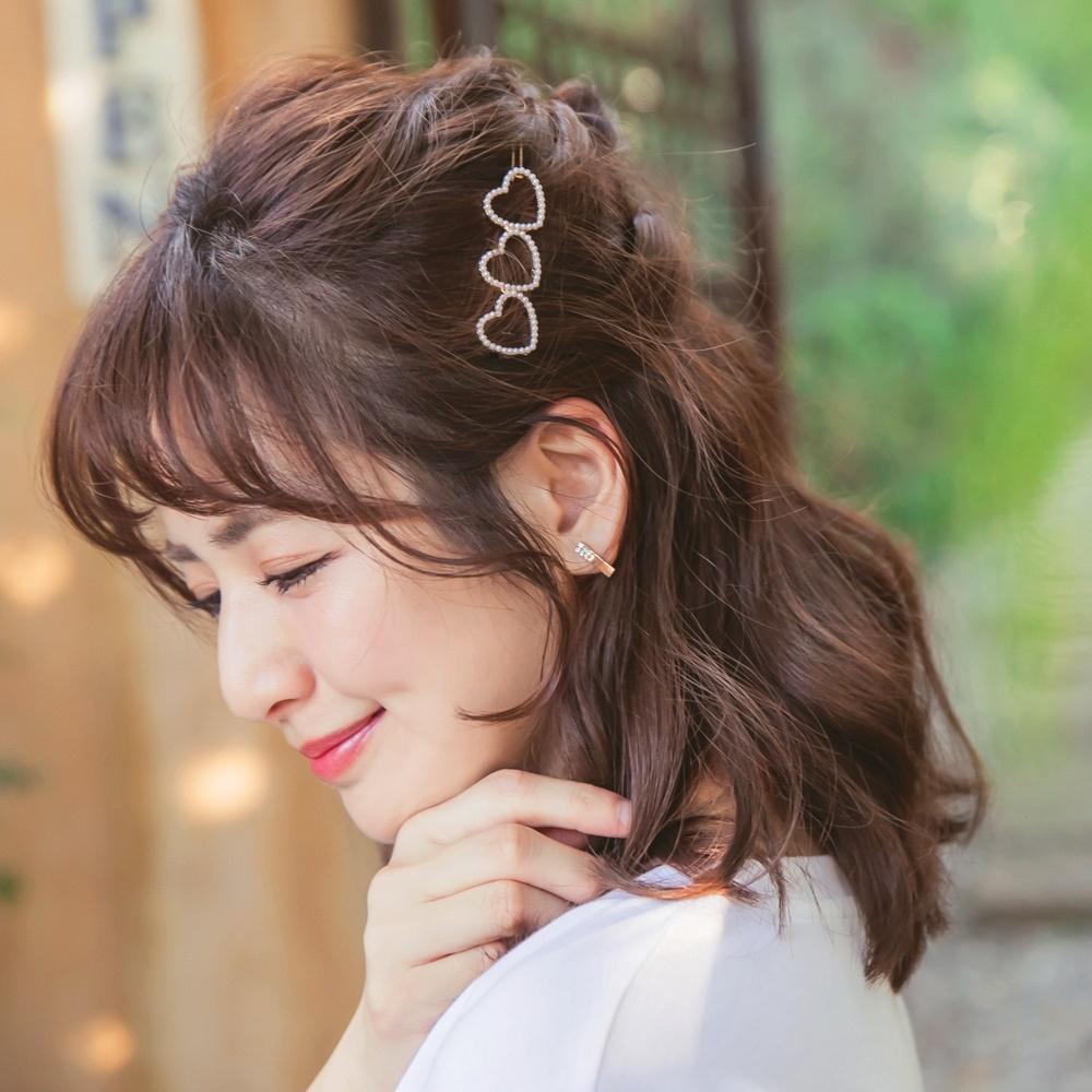 iMODA STAR-臧芮軒。甜美愛心珍珠造型髮夾