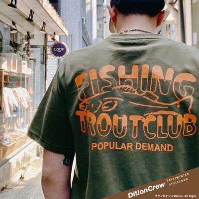 DITION 釣魚拓印FISHING短袖上衣 復古水洗短T 露營CAMP 戶外OUTDOOR