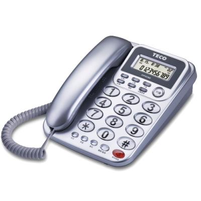 東元TECO 來電顯示有線電話 XYFXC302-銀色