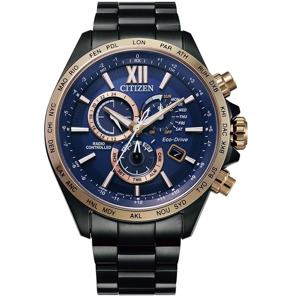 CITIZEN星辰經典光動能電波手錶(CB5837-88L)