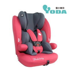 (送有機棉口水巾-隨機款)YoDa 成長型兒童安全座椅-貴族紅