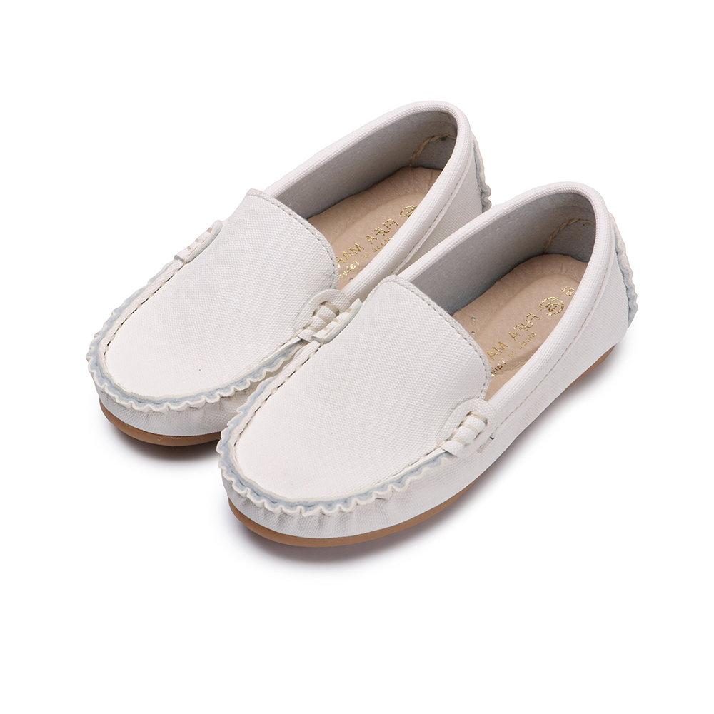 BuyGlasses 輕輕兒童樂福休閒鞋-白