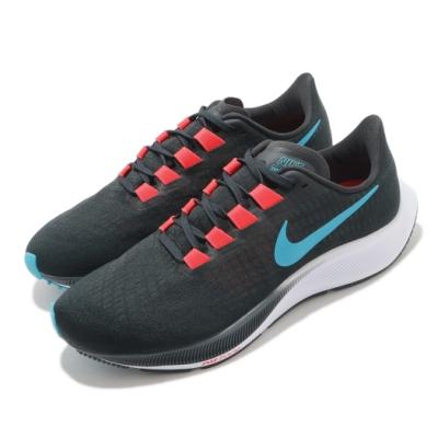Nike 慢跑鞋 Zoom Pegasus 37 男鞋 氣墊 舒適 避震 路跑 健身 運動 黑 藍 BQ9646011