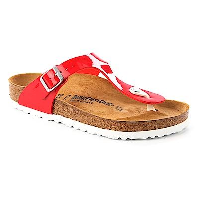勃肯BIRKENSTOCK 1005297。GIZEH吉薩 夾腳拖鞋(亮面紅)