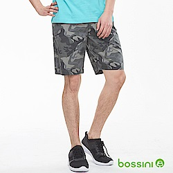 bossini男裝-迷彩輕便短褲01灰