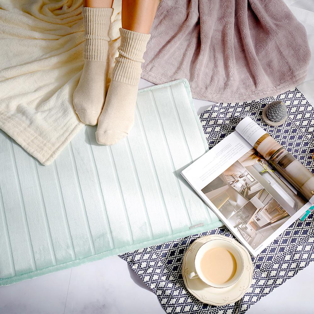 Microdry Soft Lux Bath Mat 奢華絲光記憶綿地墊-湖水綠