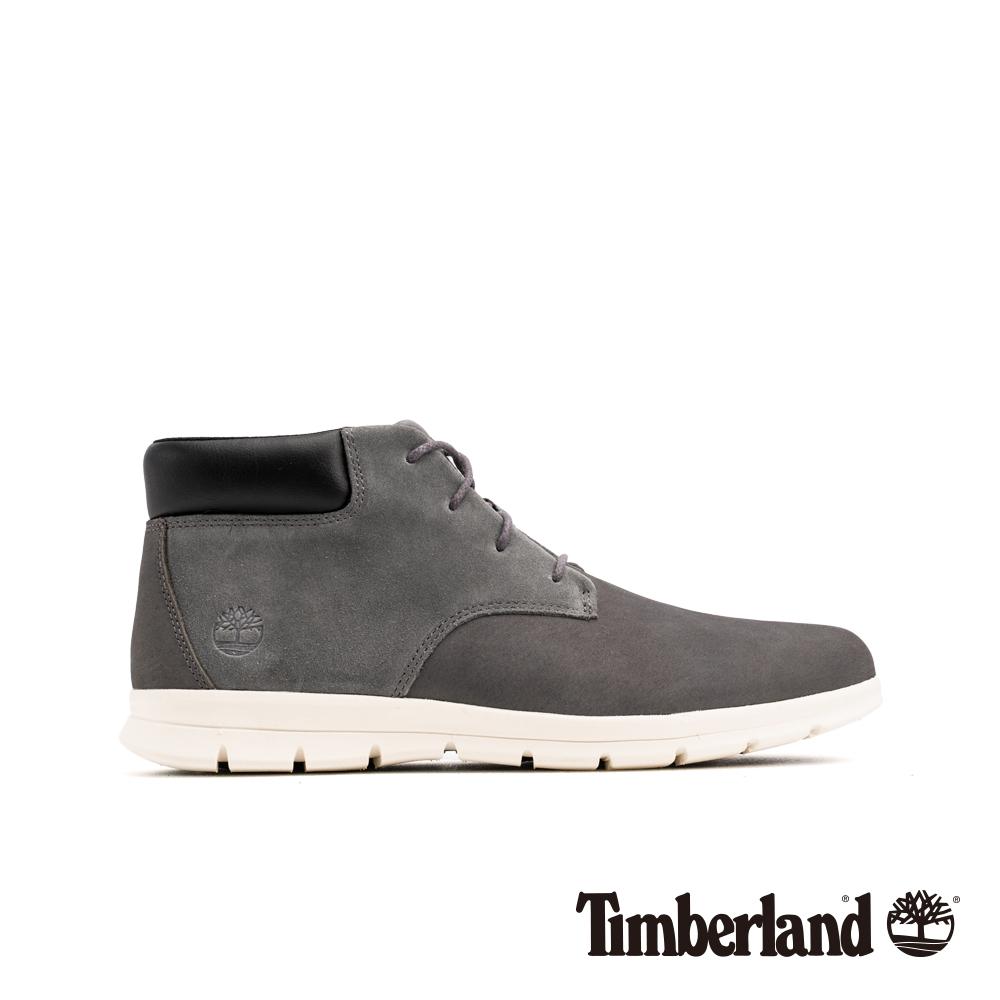 Timberland 男款灰色磨砂革休閒短靴|A1VLB