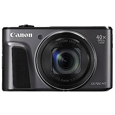 CANON PowerShot SX720 40X高倍變焦薄型類單眼*黑色(平輸)