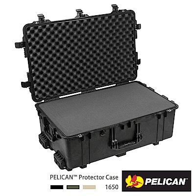美國 PELICAN 1650 輪座拉桿氣密箱-含泡棉(黑)