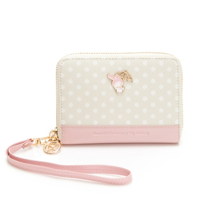 Melody聯名- 零錢包附手挽帶/頸掛繩 泡泡派對系列-粉色