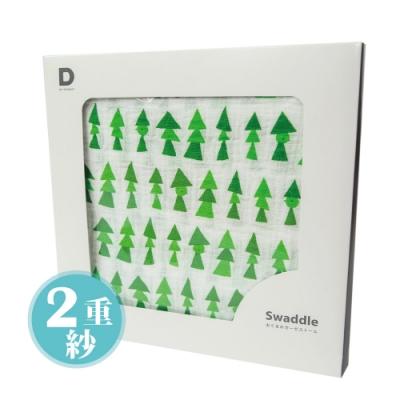 D BY DADWAY_2重紗布包巾 / 綠色森林
