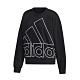 adidas 大學T Graphic Sweatshirt 女款 愛迪達 大LOGO 圓領 棉質 基本款 黑 白 GK0614 product thumbnail 1