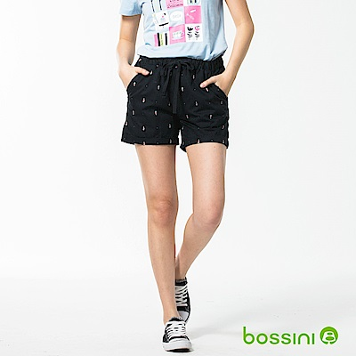 bossini女裝-印花輕便短褲04海軍藍