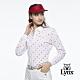 【Lynx Golf】女款吸汗速乾網眼材質L字樣高爾夫印花長袖POLO衫-白色 product thumbnail 2