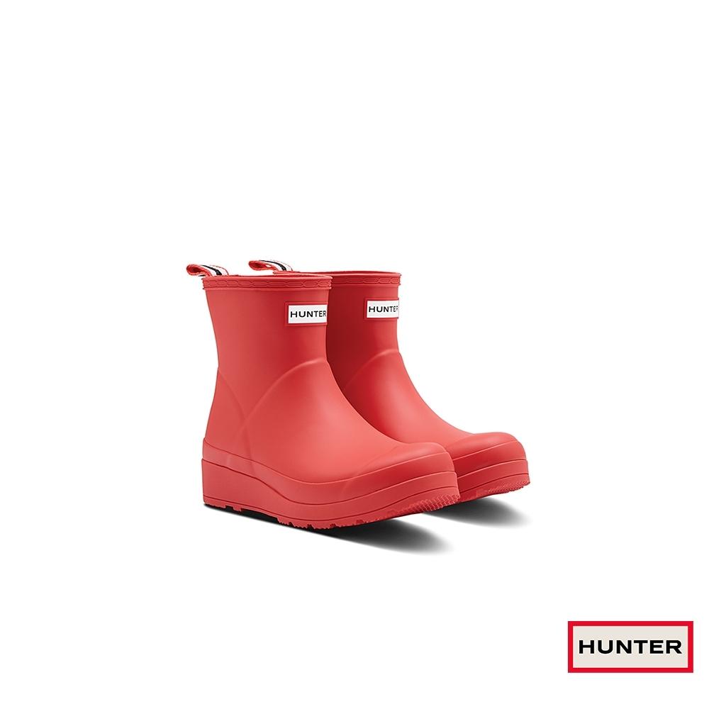 HUNTER - 女鞋 - PLAY霧面短靴 - 紅