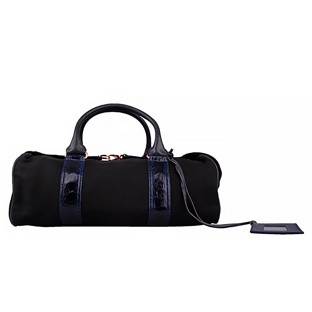 BALENCIAGA 織布手提機車包(藍色黑底)BALENCIAGA