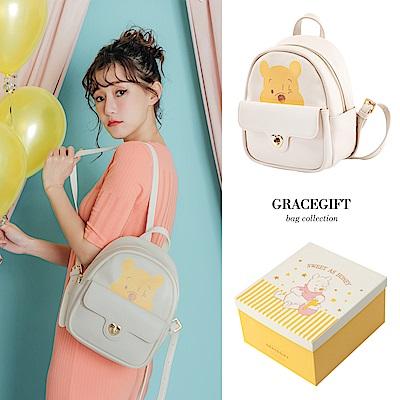 Disney collection by grace gift小熊維尼大頭轉釦後背包