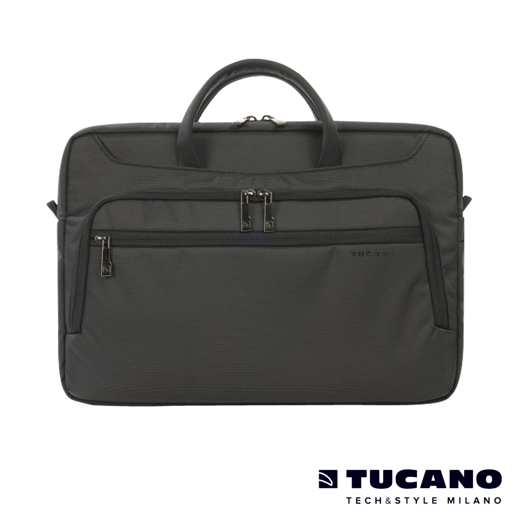 TUCANO WORK_OUT II MB 15吋時尚商務側背包-黑