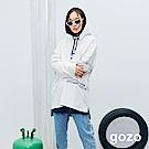 gozo 標語印字素面長版連帽上衣(二色)