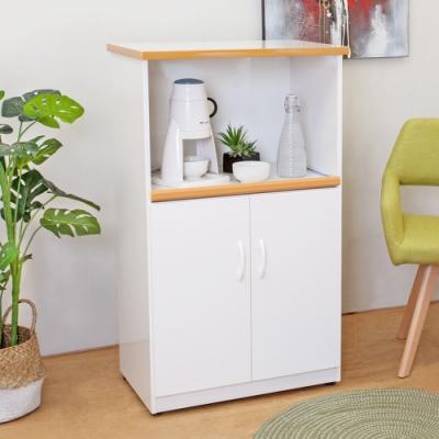 Bernice-2.2尺二門一拉盤防水塑鋼電器櫃/收納餐櫃(白色)-66x43x113cm