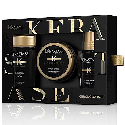 [時時樂限定]Kerastase黑鑽逆時禮盒(洗80ml+髮膜75ml+香氛50ml)