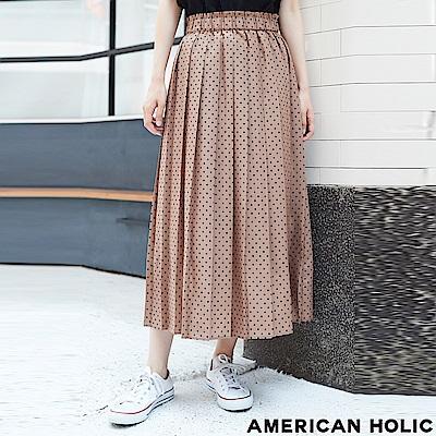 AMERICAN HOLIC 優雅點點打褶長裙