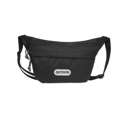 【OUTDOOR】二用側背包-黑色 OD191106BK