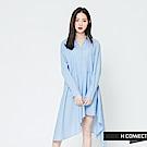 H:CONNECT 韓國品牌 女裝-不規則下擺襯衫洋裝-藍[情人節送禮推薦]