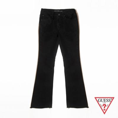 GUESS-女裝-經典靴型牛仔褲-黑