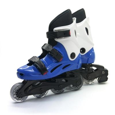 DLD多輪多 高塑鋼底座 專業直排輪 溜冰鞋 藍白 530 附贈三角背包