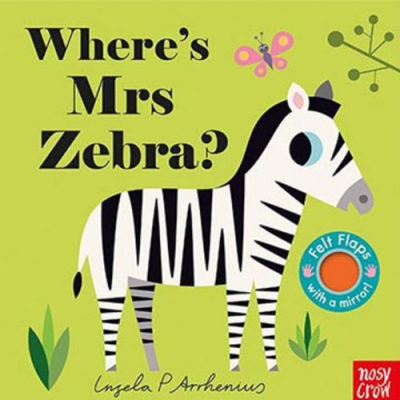 Where s Mrs Zebra? 斑馬在哪裡?不織布翻翻書