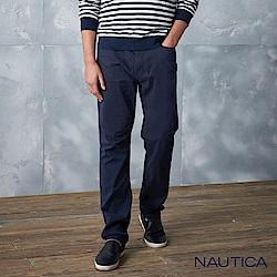 Nautica彈性修身輕薄休閒長褲-深藍