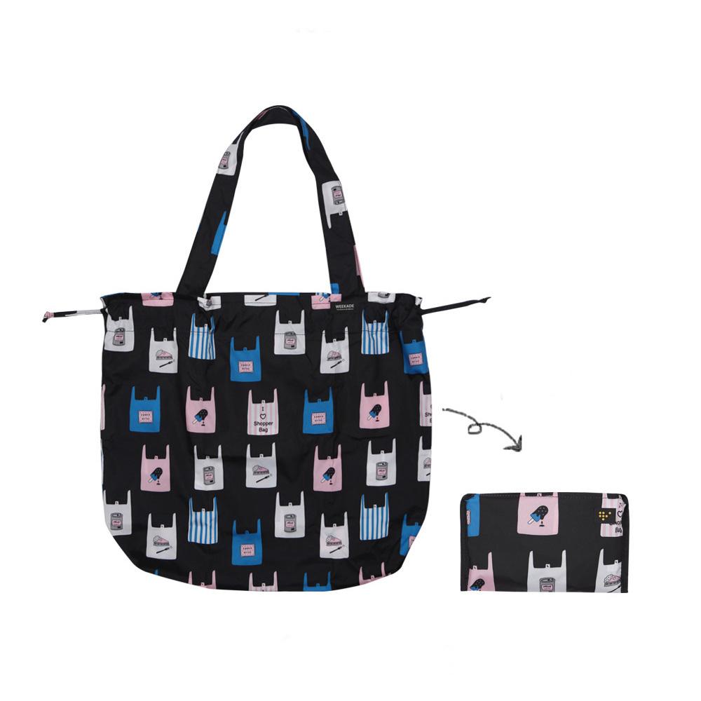 Antenna Shop 野餐趣束口摺疊購物袋-繽紛袋