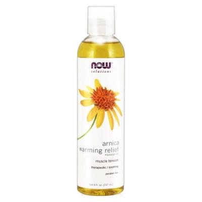 NOW 山金車舒活熱力按摩油(8oz/237ml)  Massage Oil